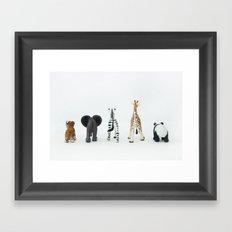 ANIMALS BACKS Framed Art Print