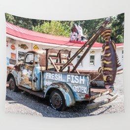 Fresh Fish Truck Wall Tapestry