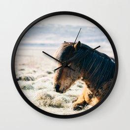 Horse pony nature Wall Clock