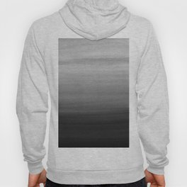 Touching Black Gray White Watercolor Abstract #1 #painting #decor #art #society6 Hoody