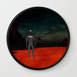 Alien World Wall Clock