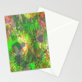 Jungle Of Colour - Multi Coloured Abstract Painting Stationery Cards