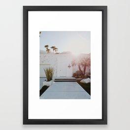Palm Springs Sunset Framed Art Print