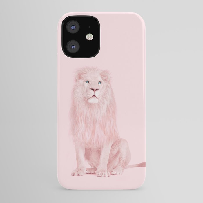 PINK LION iPhone Case by Paul Fuentes
