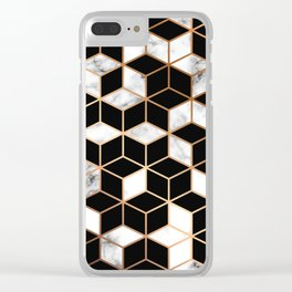 Marble & Geometry 005 Clear iPhone Case