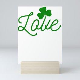New St. Patrick's Day Love Shamrock Mini Art Print
