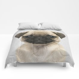 Pug Puppy - Colorful Comforters