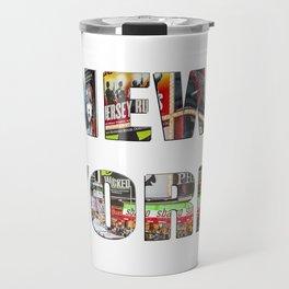 New York (typography) Travel Mug