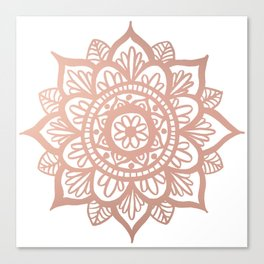 New Rose Gold Mandala Canvas Print