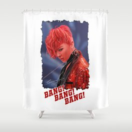 Bang Bang Bang Shower Curtain
