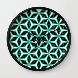 Diamond pattern in blue Wall Clock