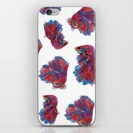 Ocean Theme- Red Blue Betta Fish iPhone Skin
