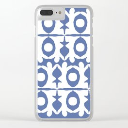 Blue Yoga Pattern Clear iPhone Case