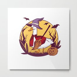 Funny Witch Gooses Best gift Metal Print