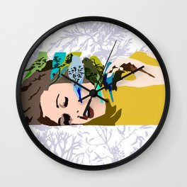 Barbarella & The Birds Wall Clock