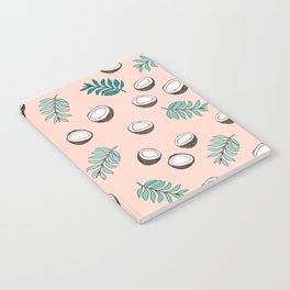 Little coconut garden summer surf palm leaves pink Notebook