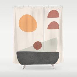 Abstract Minimal Art 03 Shower Curtain