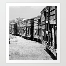 Old livestock train.   Art Print
