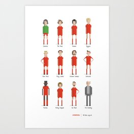 Liverpool - All-time squad Art Print