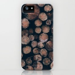 Fire Wood iPhone Case