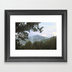 Foggy Mountain Top Framed Art Print