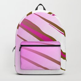 wild lines, exotic pink Backpack