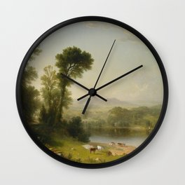 Asher Brown Durand - Pastoral Landscape Wall Clock