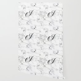 Letter J on Marble texture Initial personalized monogram Wallpaper