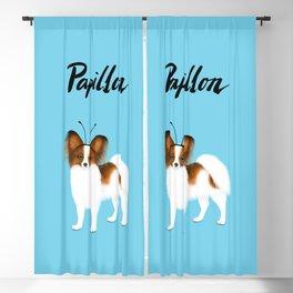 Papillon (Blue) Blackout Curtain