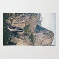 yosemite Area & Throw Rugs featuring Yosemite Waterfall by Laura Ruth