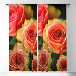 Peach Rose Blackout Curtain