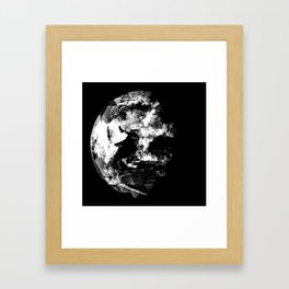 Blue Marble (East) Graphic Print Framed Art Print