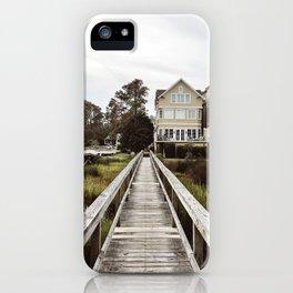 A Southern Beach Boardwalk iPhone Case