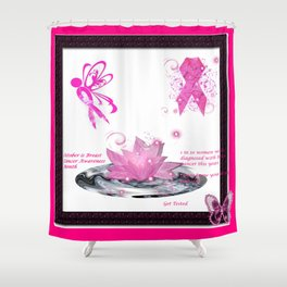 BC Know The Risk Butterfly Shower Curtain
