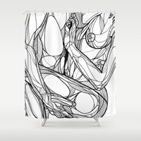 passion Shower Curtains featuring Passion by Jasmine Smith