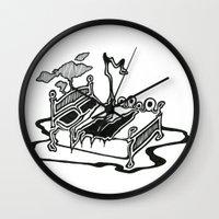 dessert Wall Clocks featuring Dessert by Abstractink82