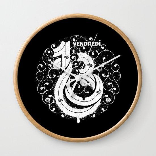Vendredi 13 monogram Wall Clock