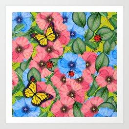Floral scene Art Print