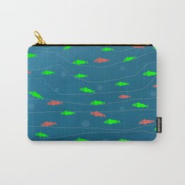 salmon pattern Carry-All Pouch