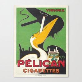 Vintage poster - Pelican Cigarettes Canvas Print