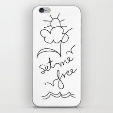Set me Free! iPhone Skin