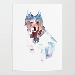 Wolf / Abstract animal portrait. Poster