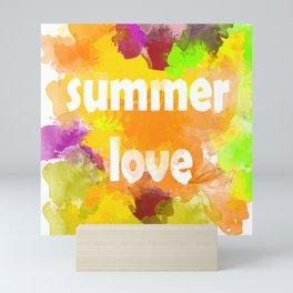 I love summer . Bright colorful design . Mini Art Print