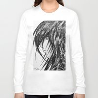 no face Long Sleeve T-shirts featuring Face by rchaem