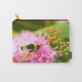 Busy Bee Bzzzzzzz On A Pink Flower #decor #society6 Carry-All Pouch