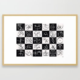 My Personal Thirty Framed Art Print