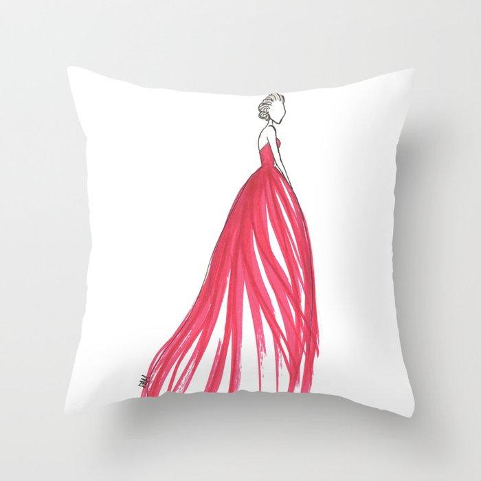 Crimson Throw Pillow