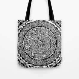 Flower Mandala Tote Bag