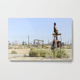 Oil Rig II Metal Print