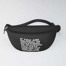 Human Rights Quote Protest Political Fanny Pack